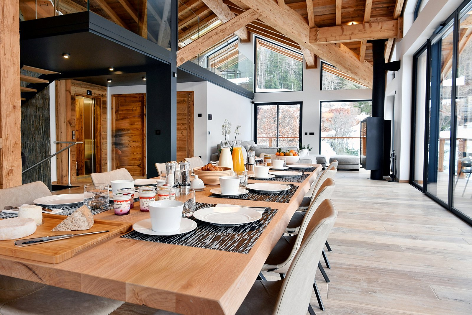 Chamonix Property Mountain Base # Living En Bois