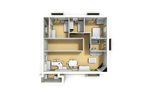 3 bed configuration
