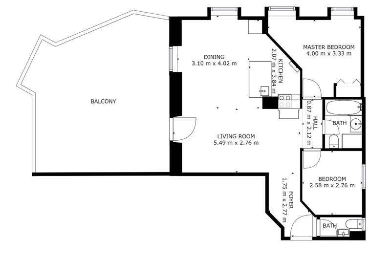 Floor plan Belle Epoque