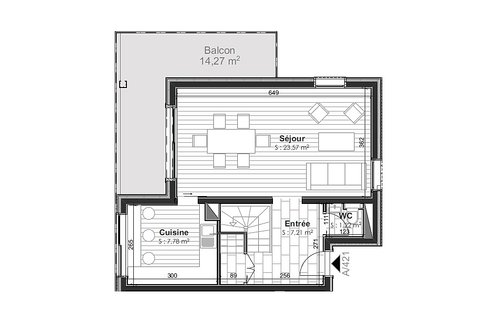 Apt 421 First level plans
