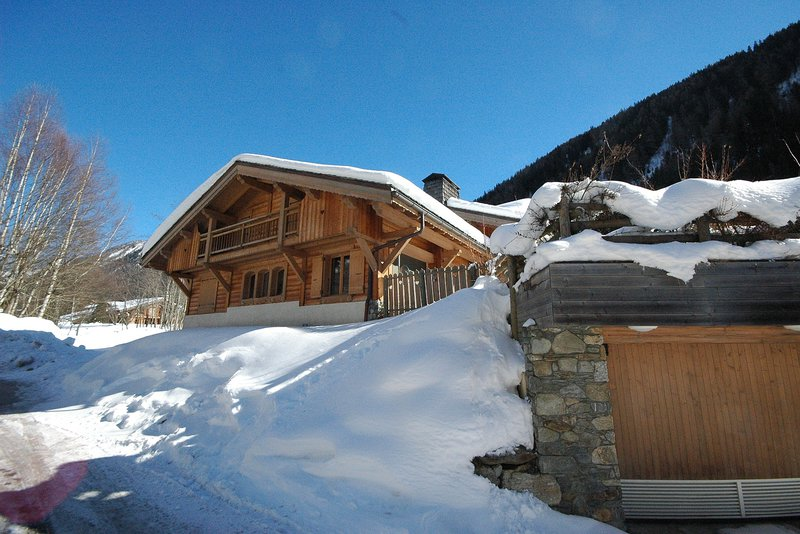 The approach to the chalet|Le chemin menant au chalet
